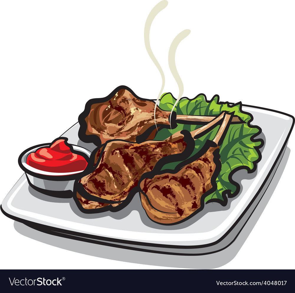 Lamb ribs vector | Price: 1 Credit (USD $1)