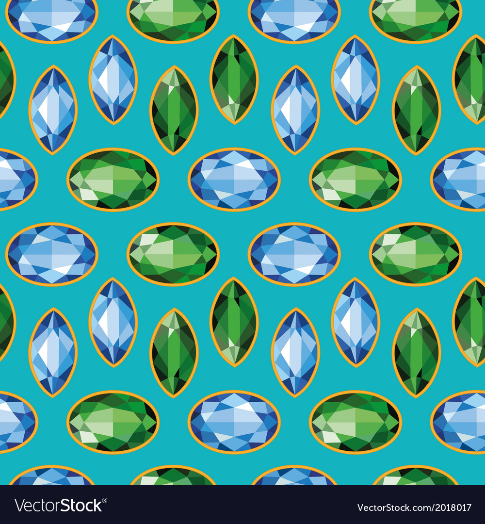 Sapphires emeralds seamless texture vector | Price: 1 Credit (USD $1)