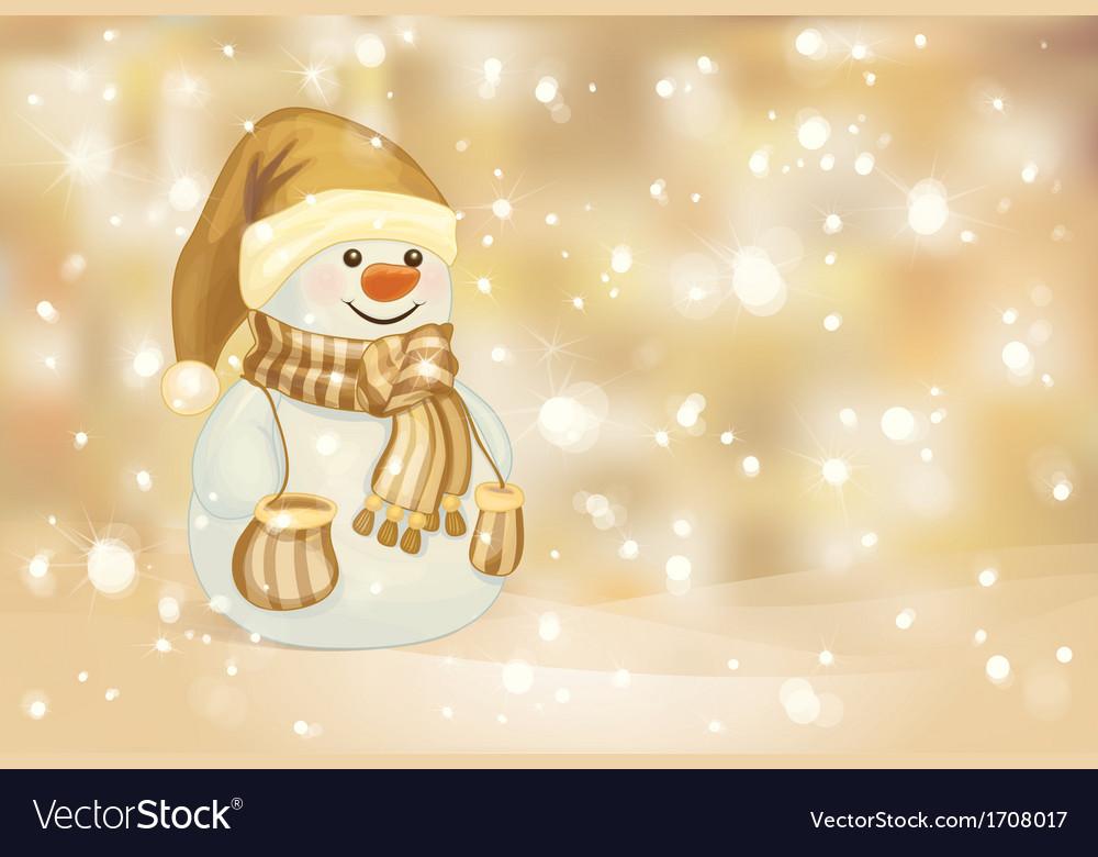 Snowman golden vector | Price: 1 Credit (USD $1)