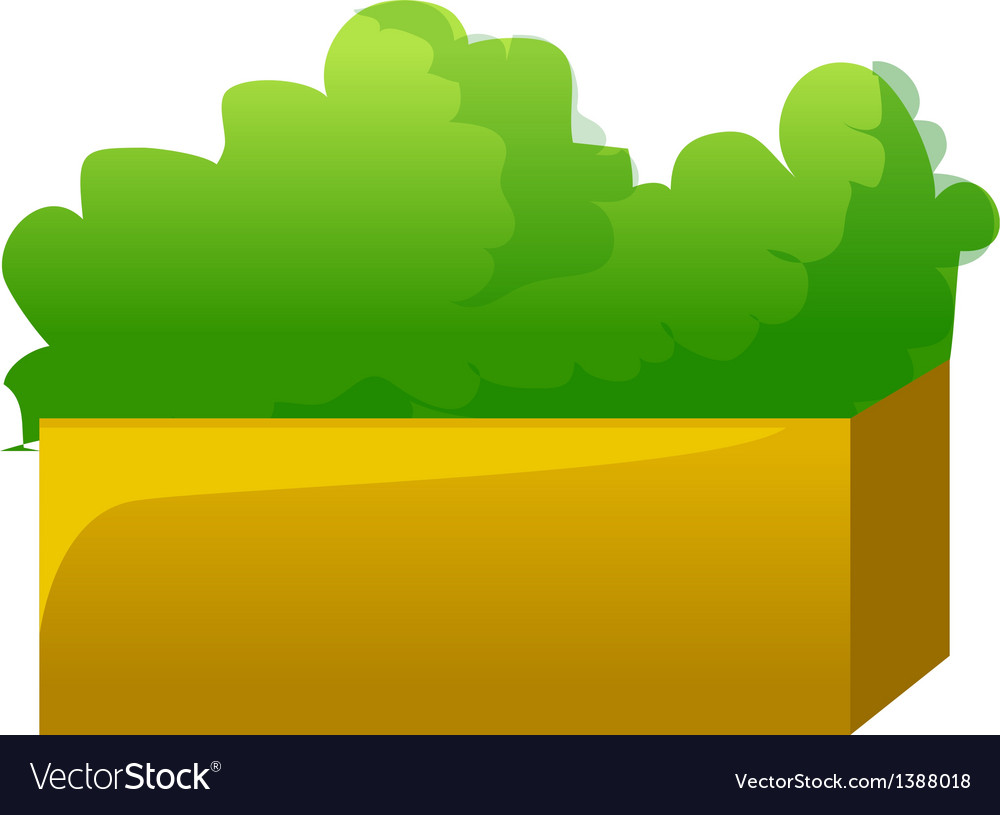 A view of a bush vector | Price: 1 Credit (USD $1)