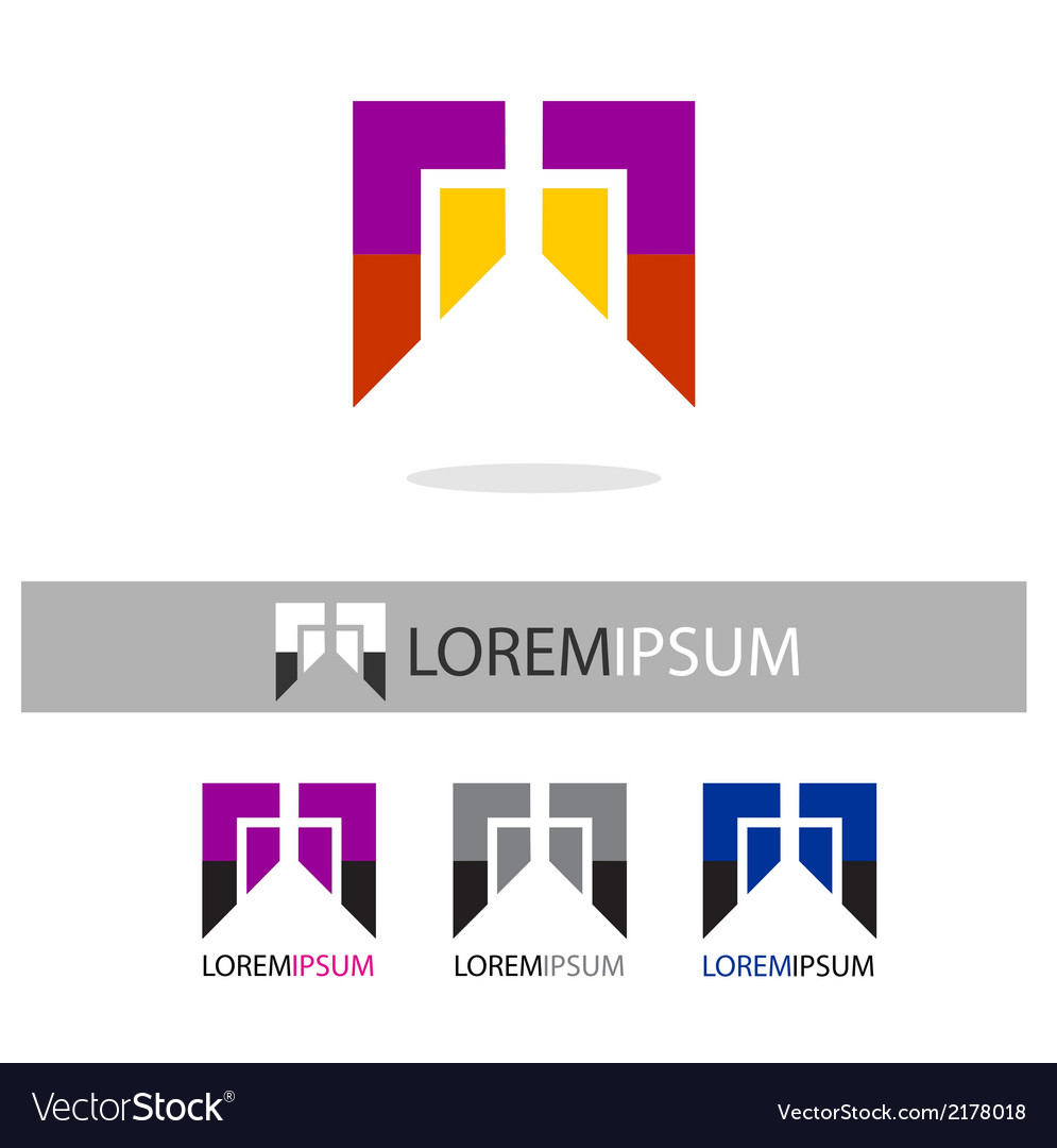 Abstract colorful logo icons template vector | Price: 1 Credit (USD $1)