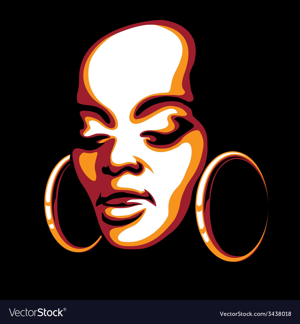 African woman face vector | Price: 1 Credit (USD $1)