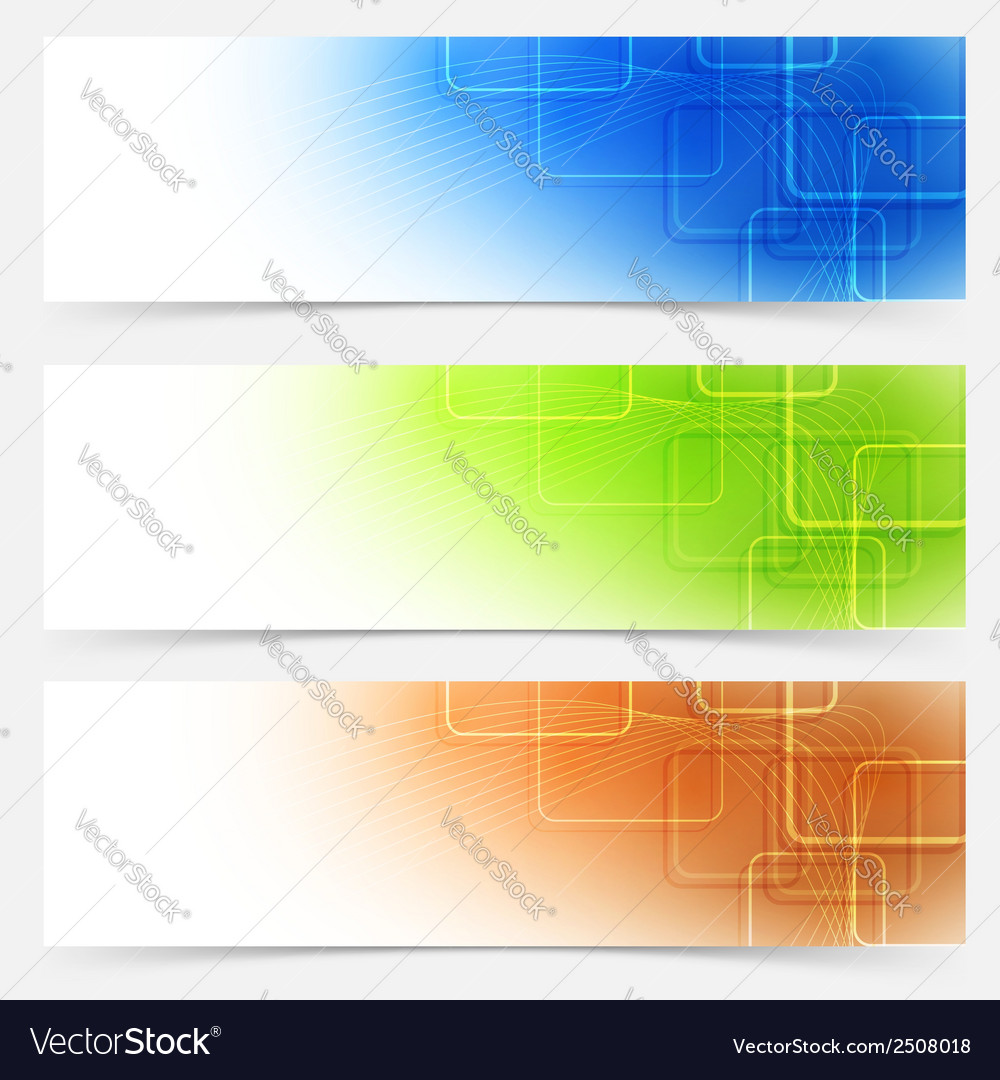Bright web headers templates colorful collection vector | Price: 1 Credit (USD $1)