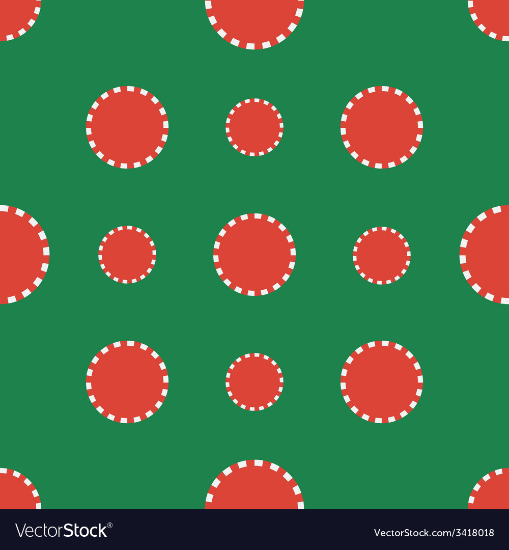 Casino chips seamless pattern vector | Price: 1 Credit (USD $1)