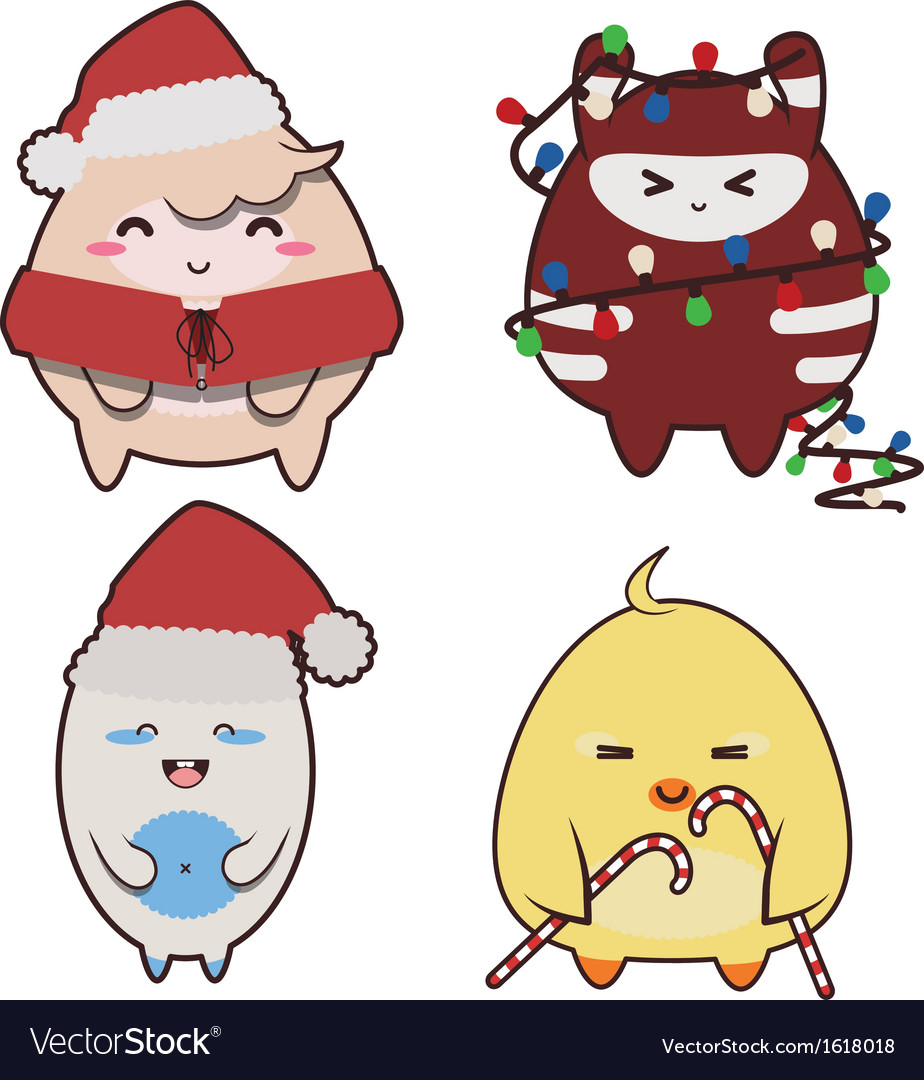 Christmas monsters vector | Price: 1 Credit (USD $1)