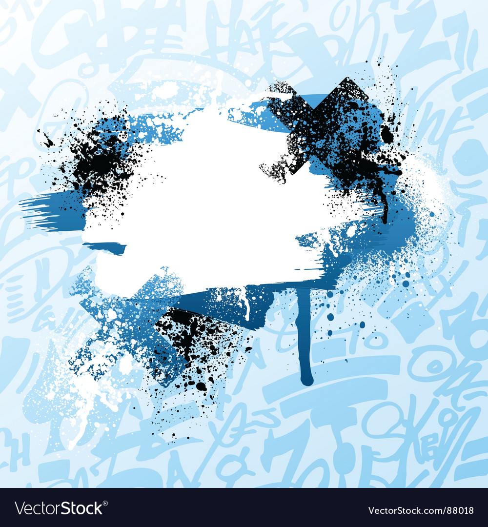Graffiti paint splatter vector | Price: 1 Credit (USD $1)