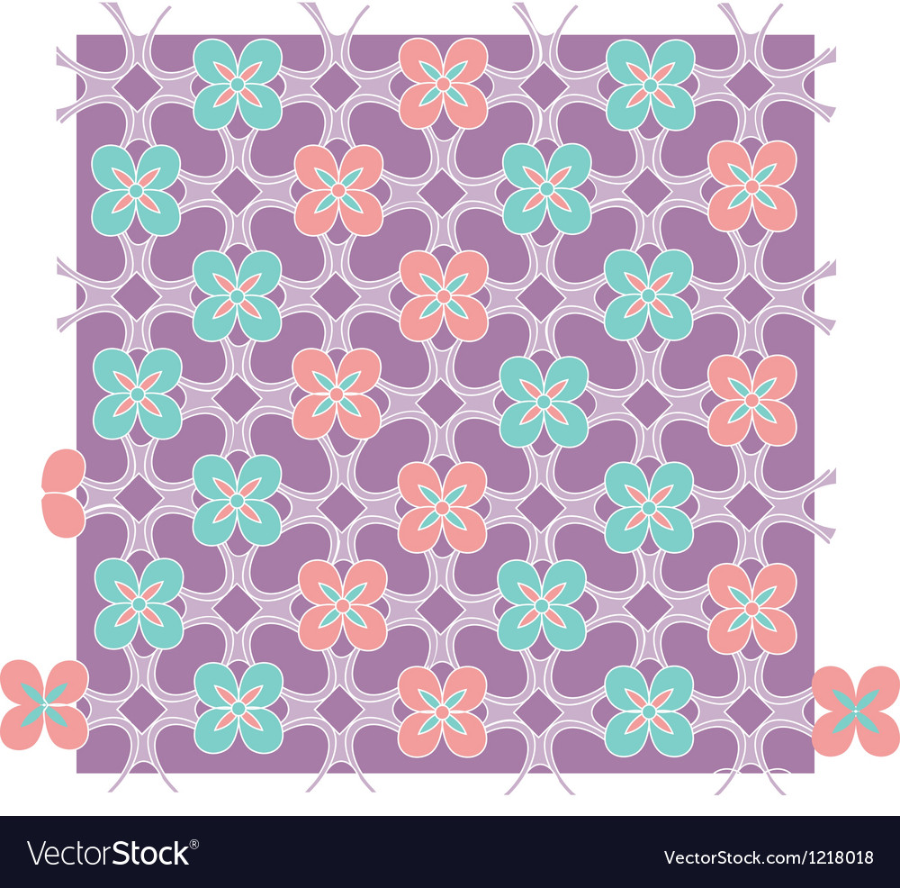 Java floral pattern vector | Price: 1 Credit (USD $1)