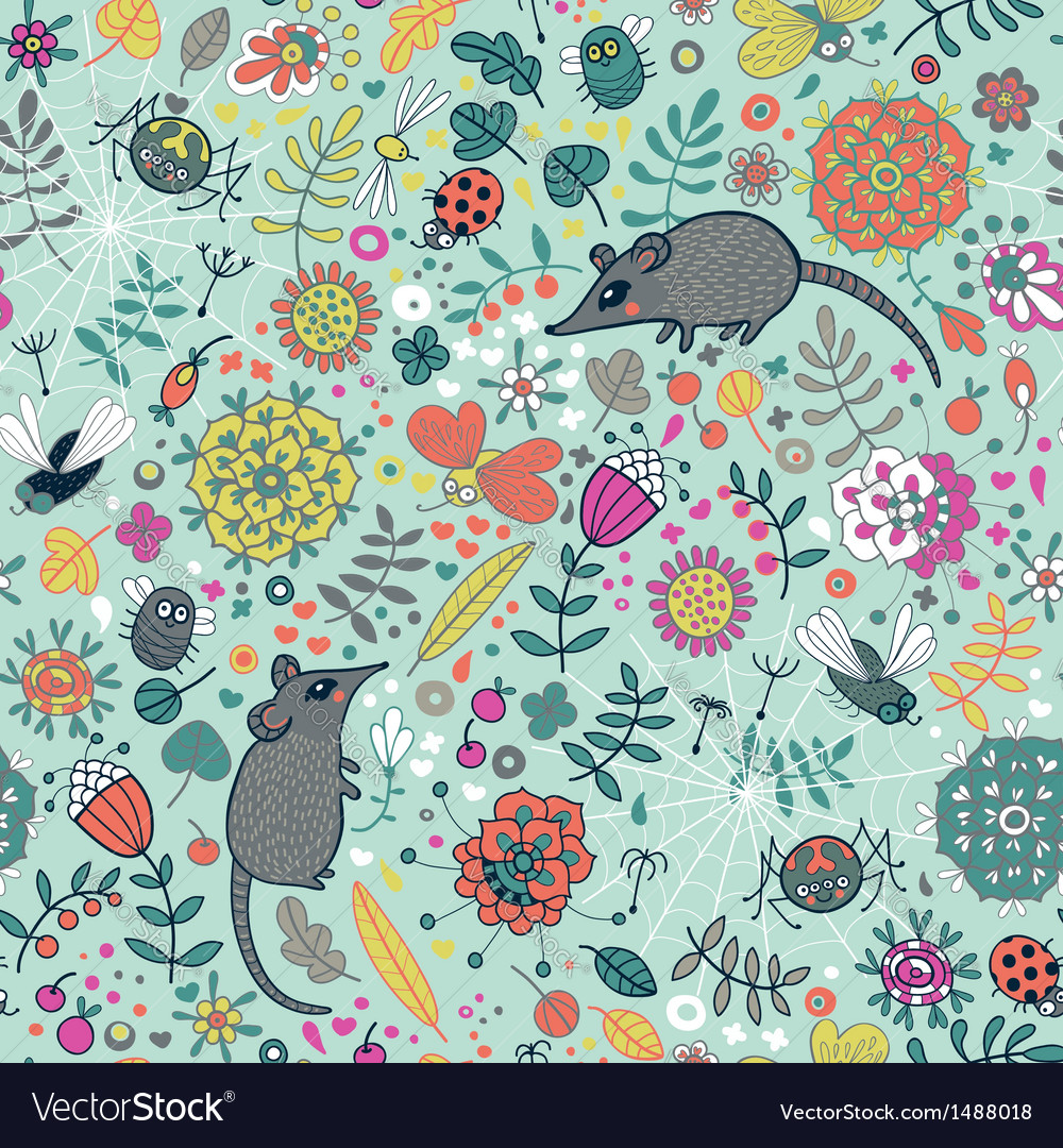 Life in the meadow vector | Price: 3 Credit (USD $3)