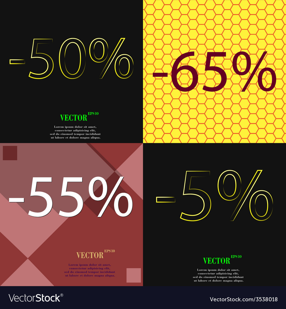 Set of abstract backgrounds and interest discount vector | Price: 1 Credit (USD $1)