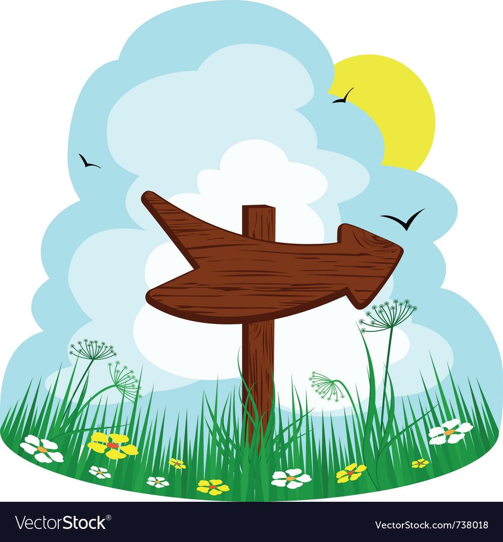 Wooden arrow vector | Price: 1 Credit (USD $1)