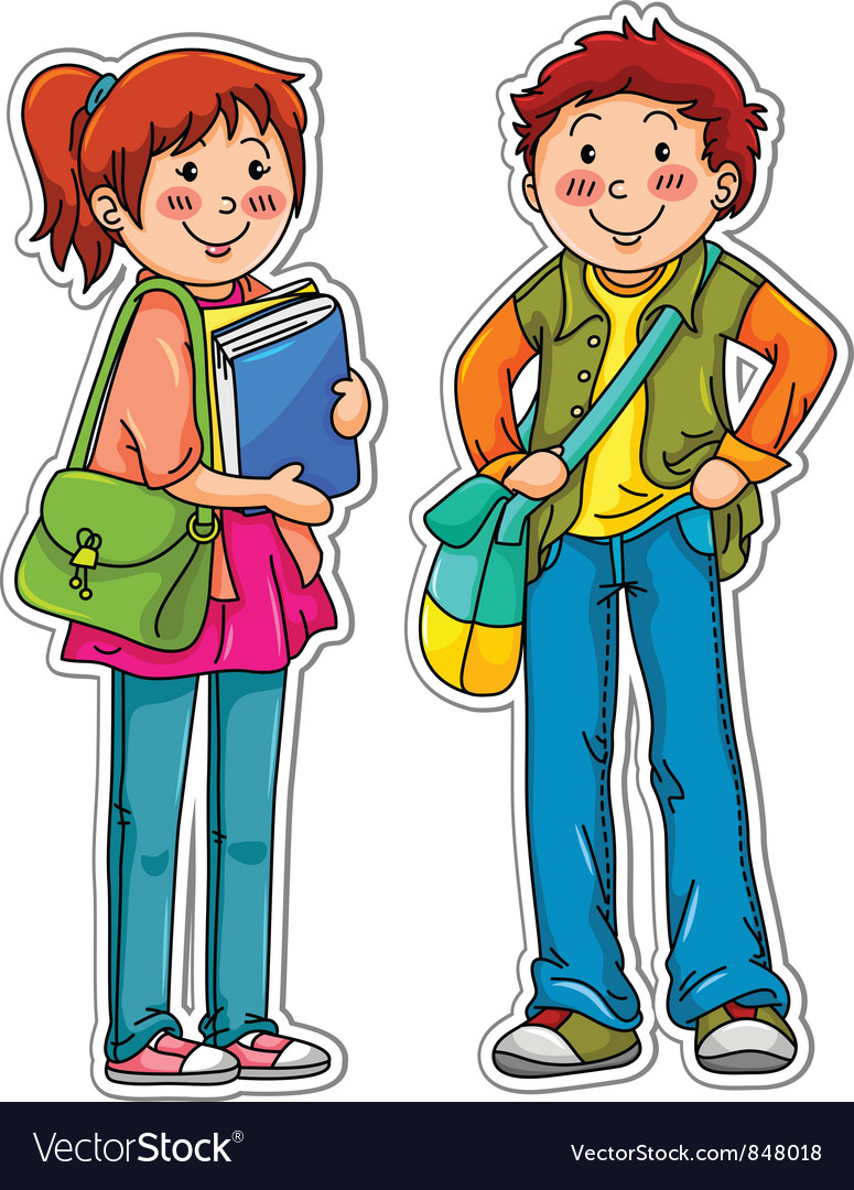 Young students vector | Price: 3 Credit (USD $3)