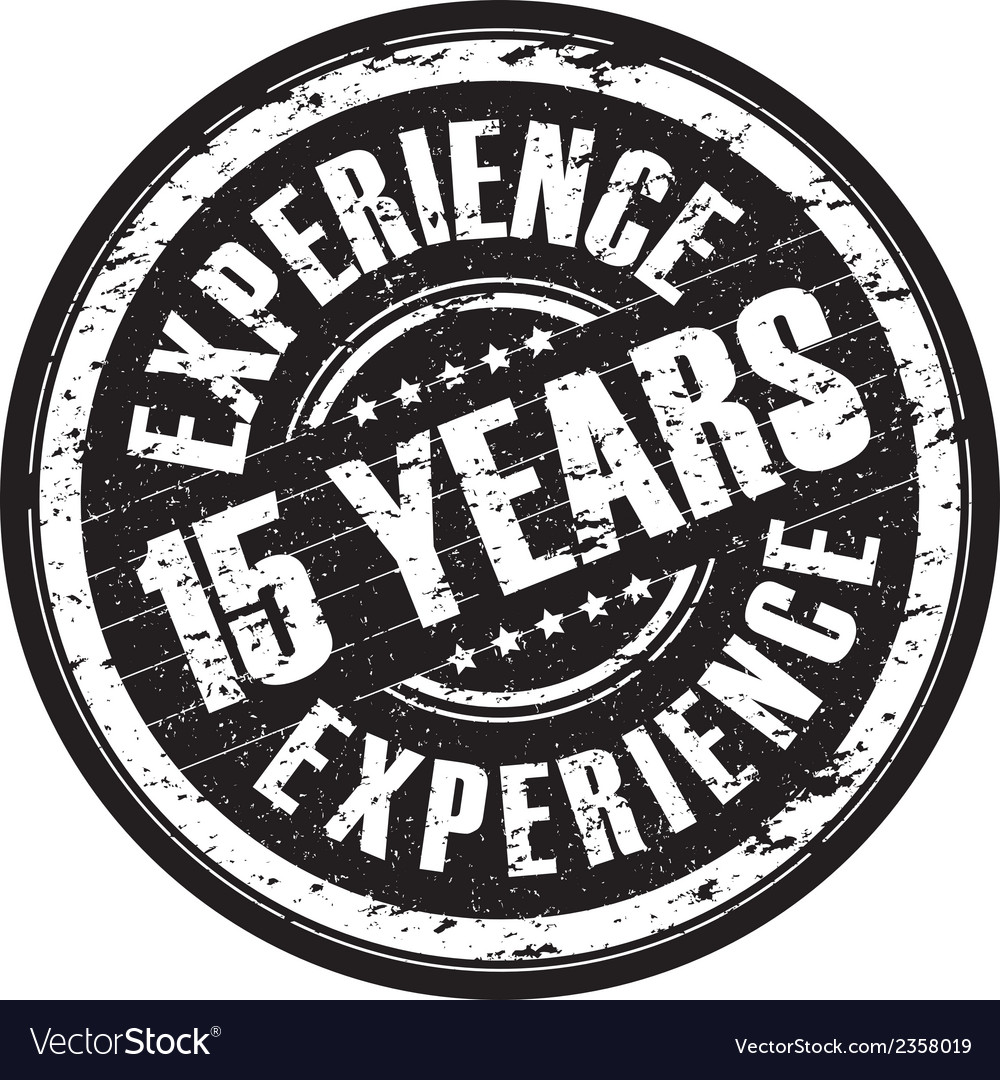 15 years experience vector   Price: 1 Credit (USD $1)