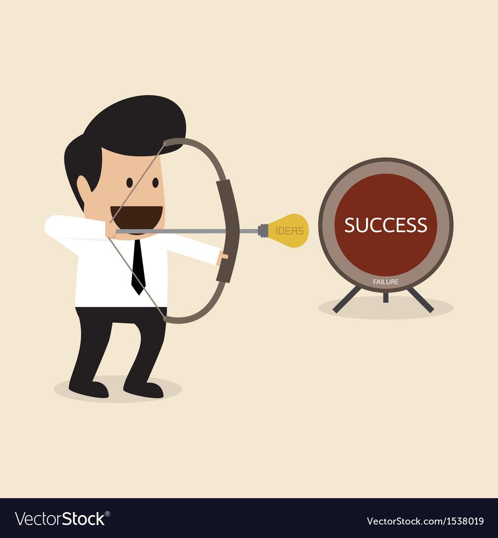 Businessman launch idea arrow vector | Price: 1 Credit (USD $1)