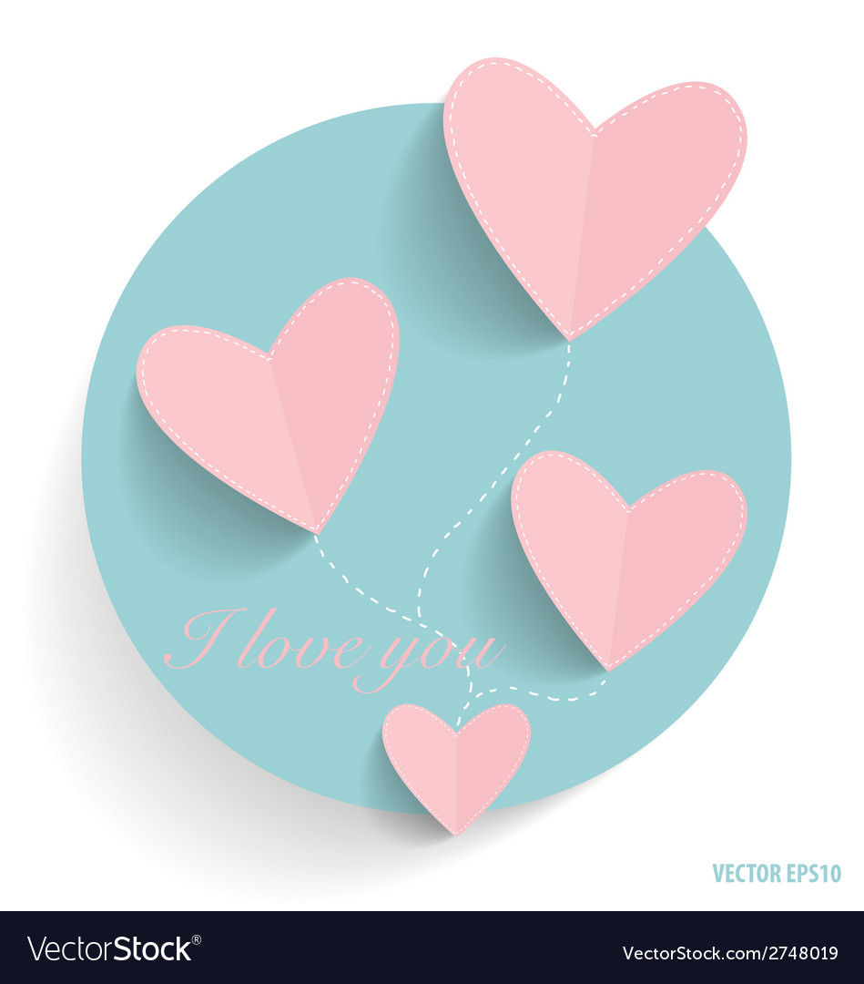 Cute note paper with hearts vector | Price: 1 Credit (USD $1)