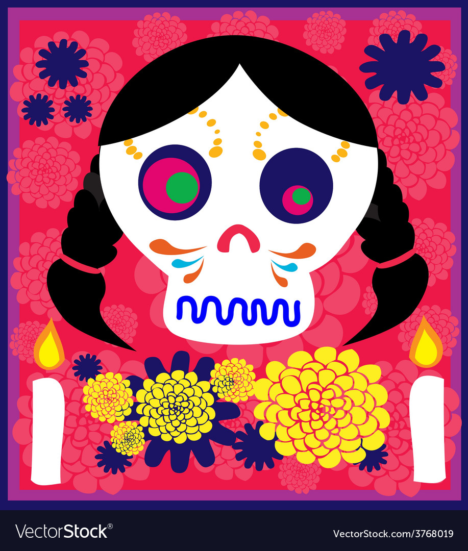 Day of the dead 8 vector | Price: 1 Credit (USD $1)