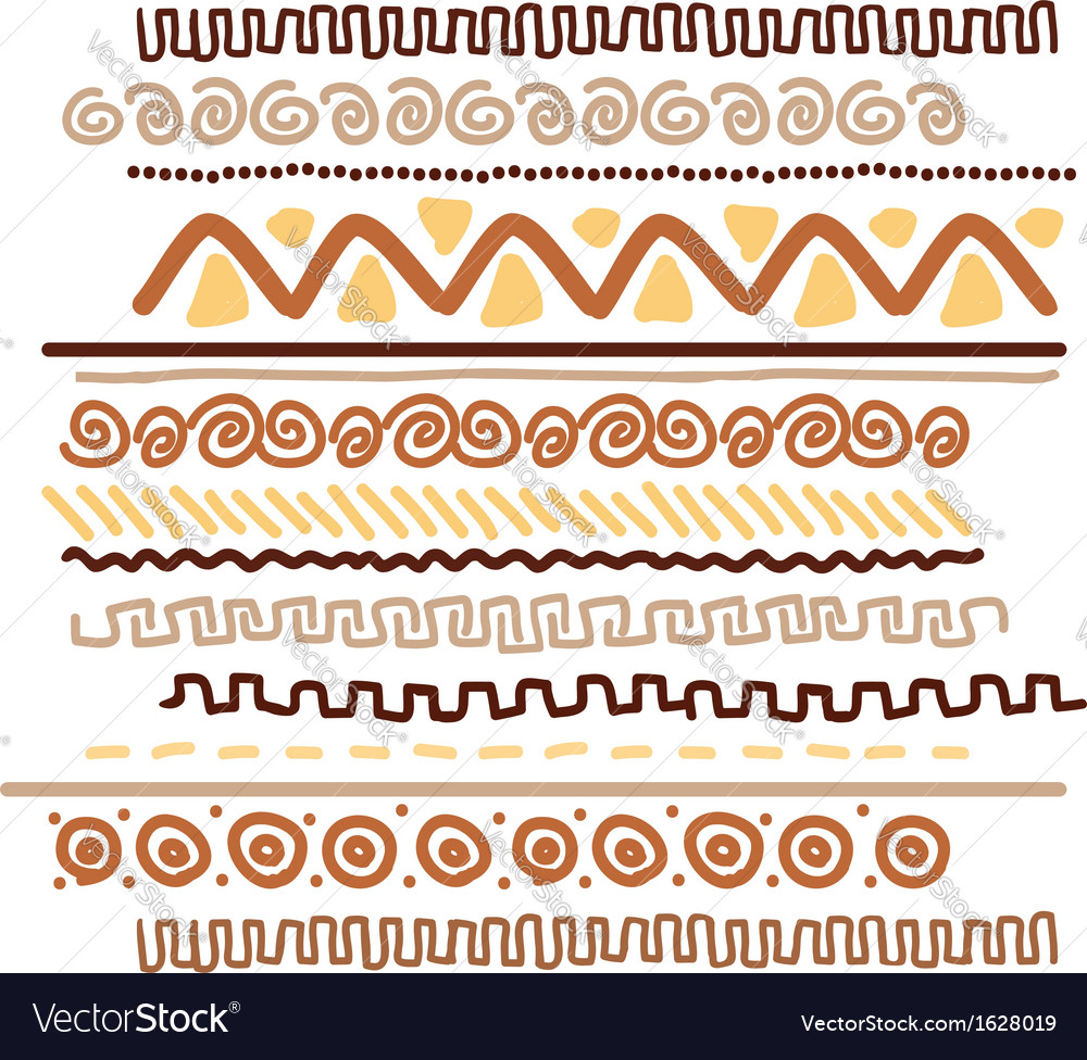 Design element with ethnic handmade ornament vector | Price: 1 Credit (USD $1)