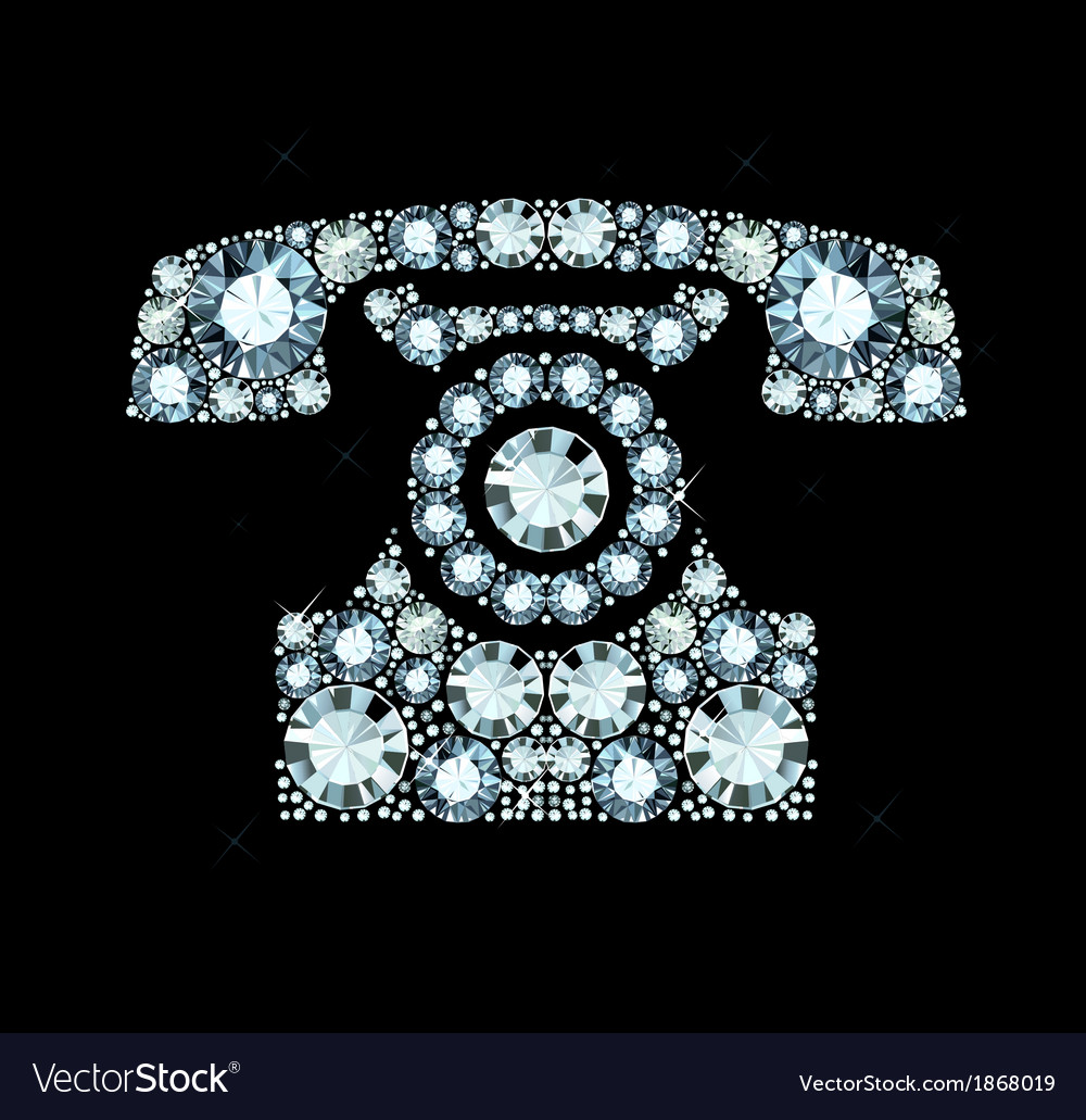 Diamond telephone vector | Price: 1 Credit (USD $1)