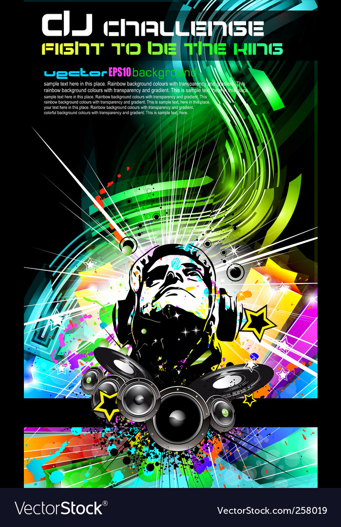 Dj music flyer vector | Price: 3 Credit (USD $3)