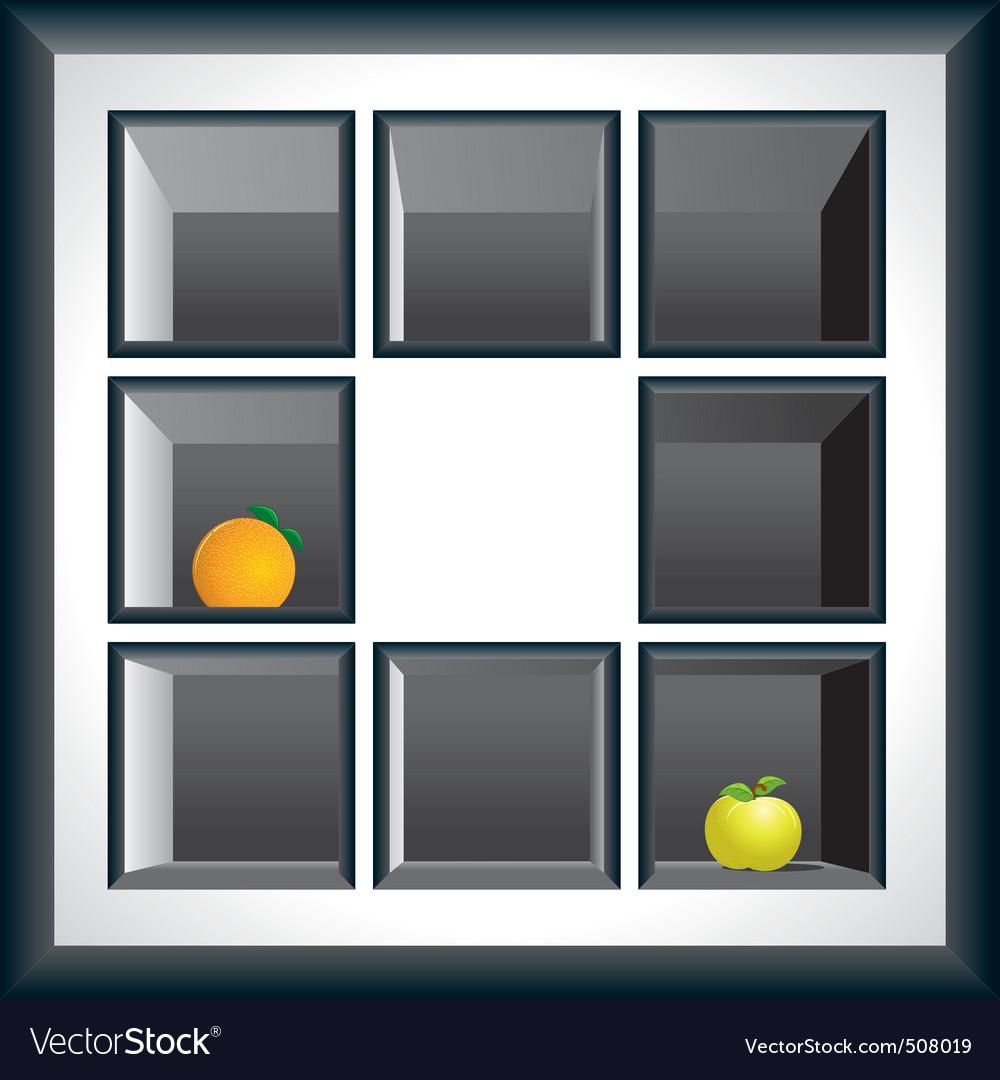 Exhibition shelves vector | Price: 1 Credit (USD $1)