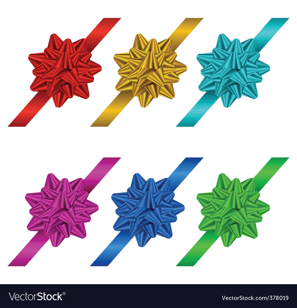 Gift bows and ribbons vector | Price: 1 Credit (USD $1)