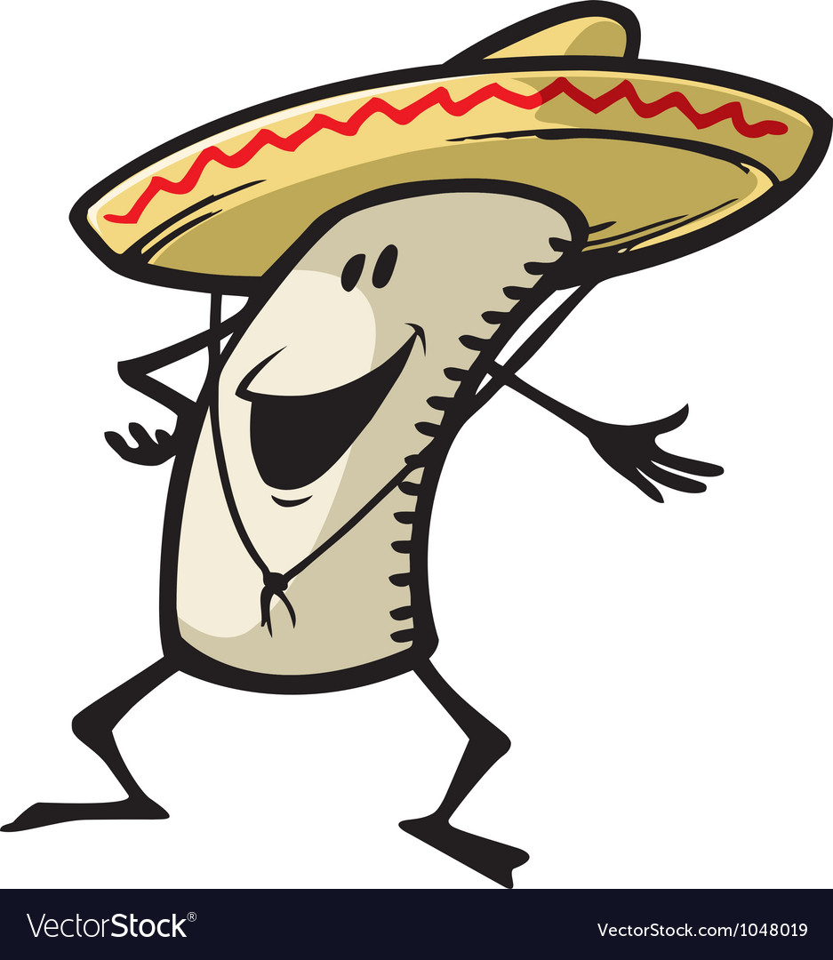 Happy burrito vector | Price: 1 Credit (USD $1)