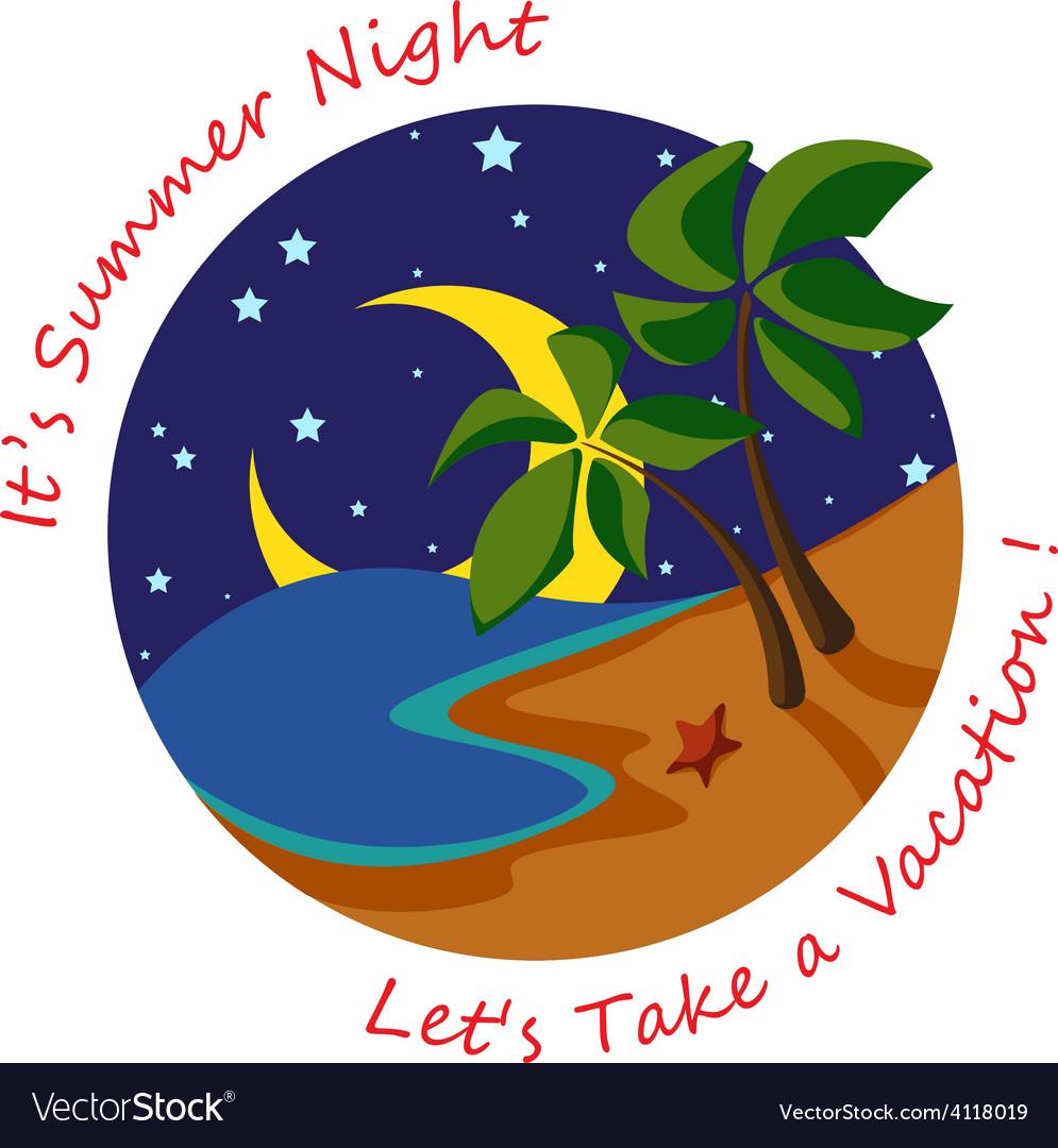 Summer night vector | Price: 1 Credit (USD $1)