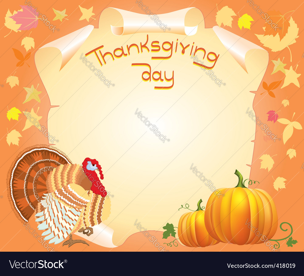 Thanksgiving poster vector | Price: 1 Credit (USD $1)