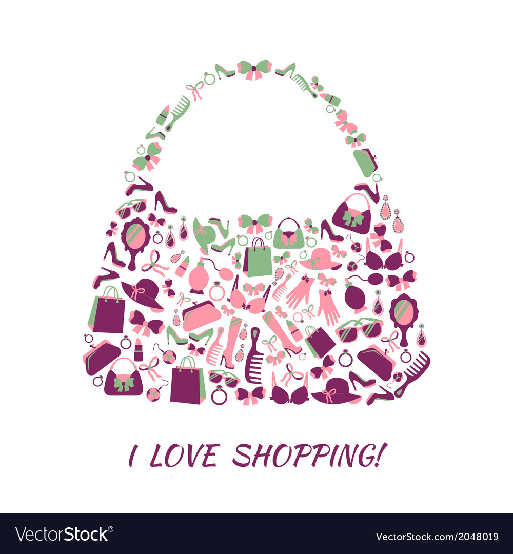 Woman accessories shopping bag vector | Price: 1 Credit (USD $1)