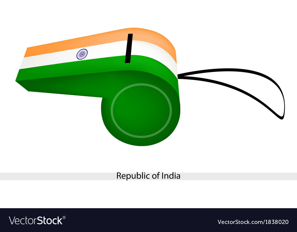 A whistle of the republic of india vector | Price: 1 Credit (USD $1)