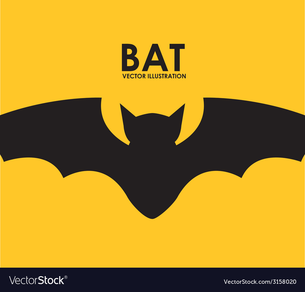 Bat design vector | Price: 1 Credit (USD $1)