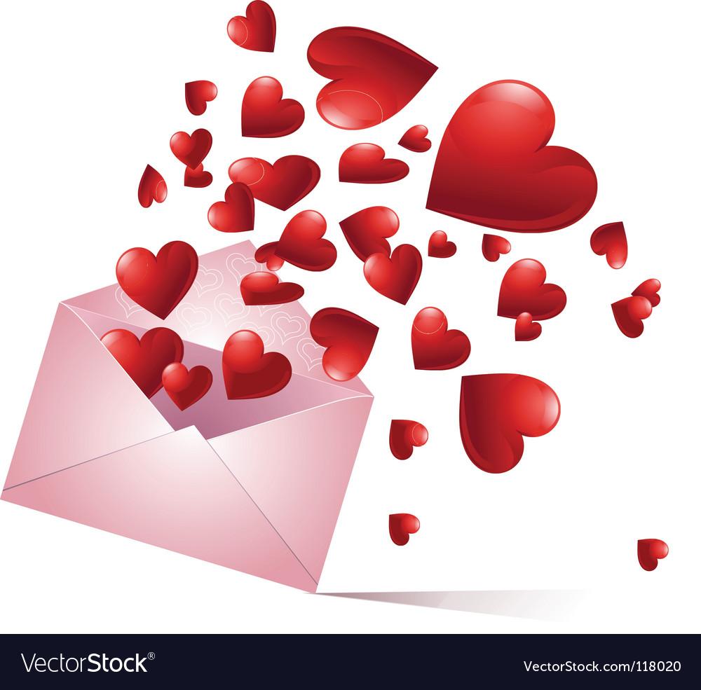 Bursting hearts vector | Price: 1 Credit (USD $1)