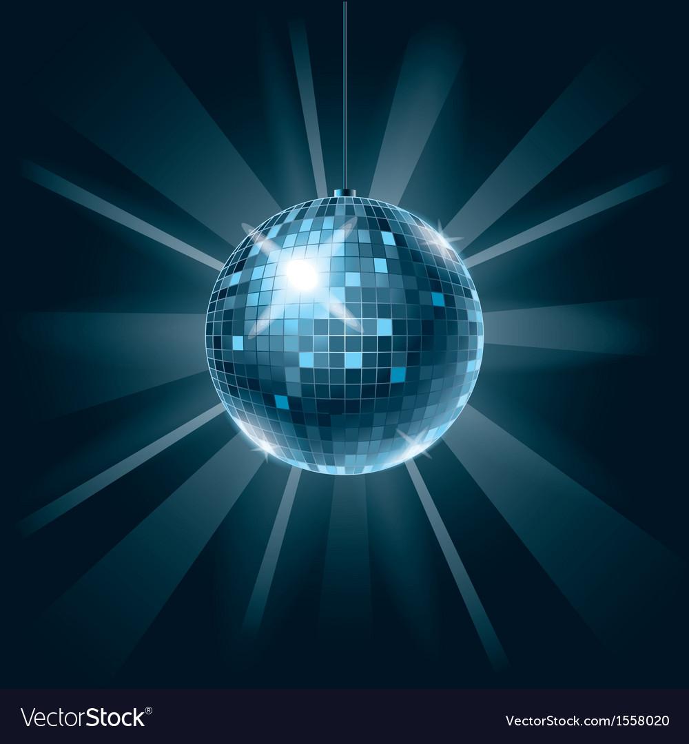 Disco ball on dark vector   Price: 1 Credit (USD $1)