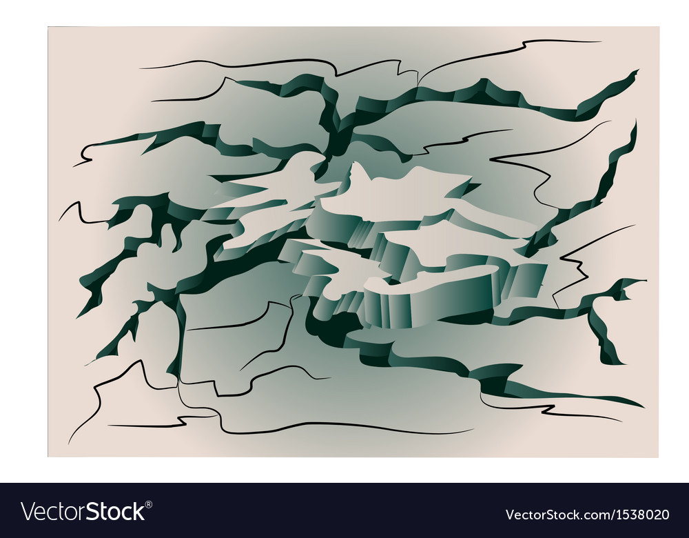 Earthquake cracked ground vector | Price: 1 Credit (USD $1)