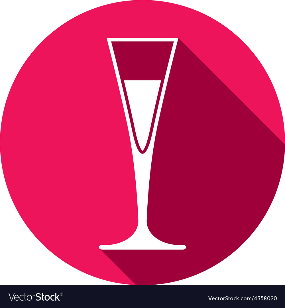Horeca graphic element champagne glass alcohol vector | Price: 1 Credit (USD $1)