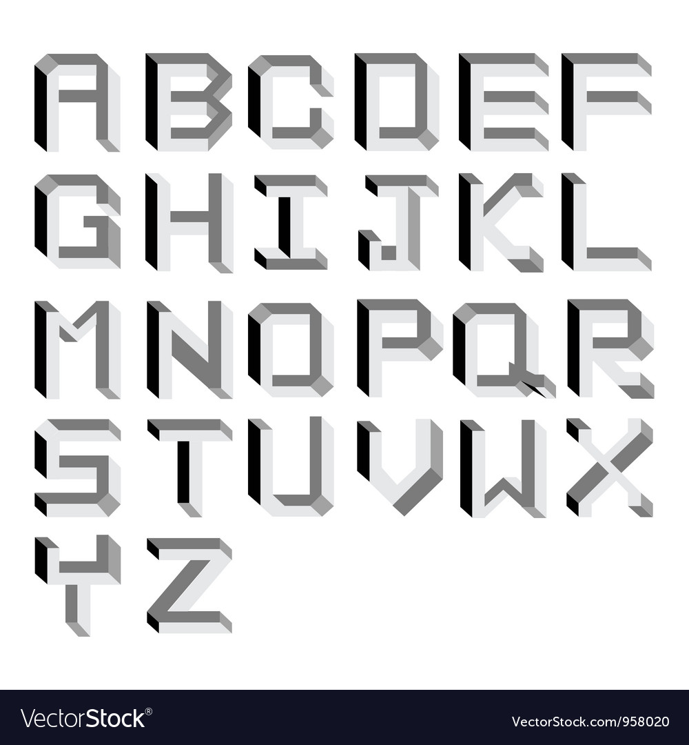 Impossible alphabet type vector | Price: 1 Credit (USD $1)