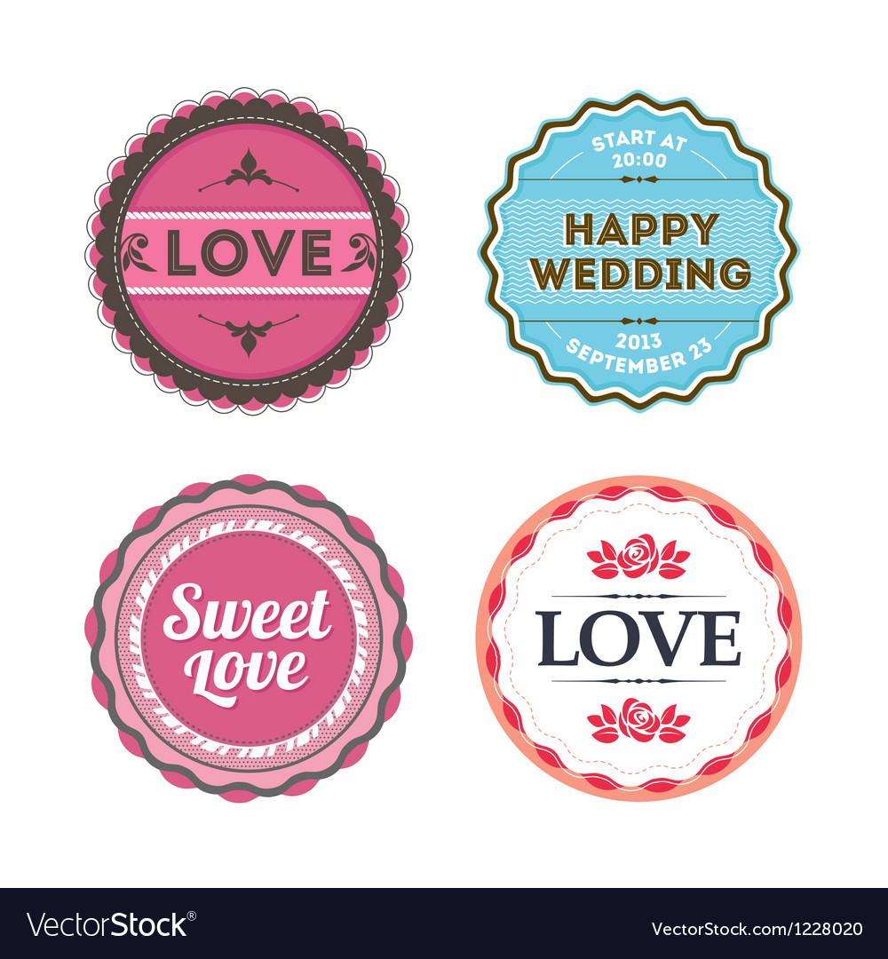 Love badges vector | Price: 1 Credit (USD $1)