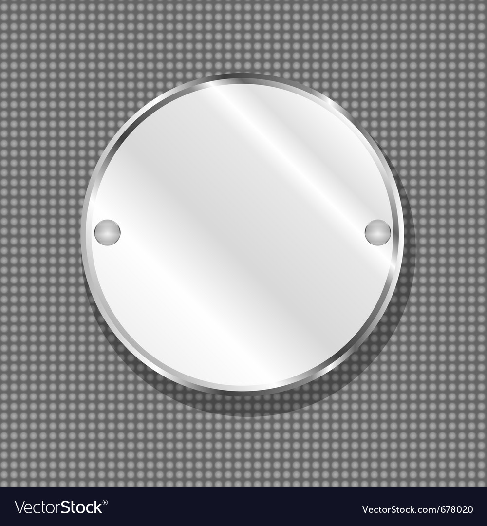 Round metal plate vector | Price: 1 Credit (USD $1)