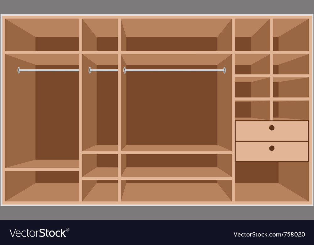 Wardrobe room vector | Price: 1 Credit (USD $1)