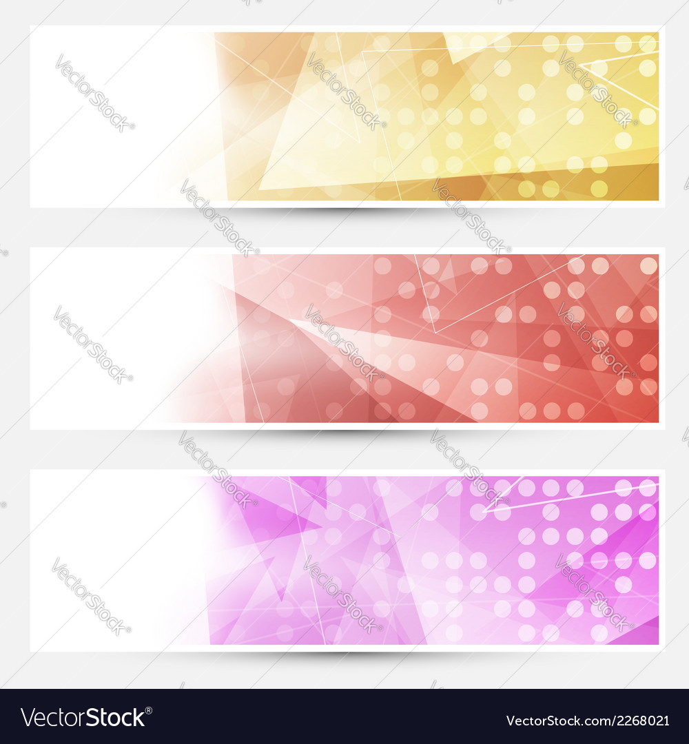 Abstract crystal dotted cards collection vector | Price: 1 Credit (USD $1)