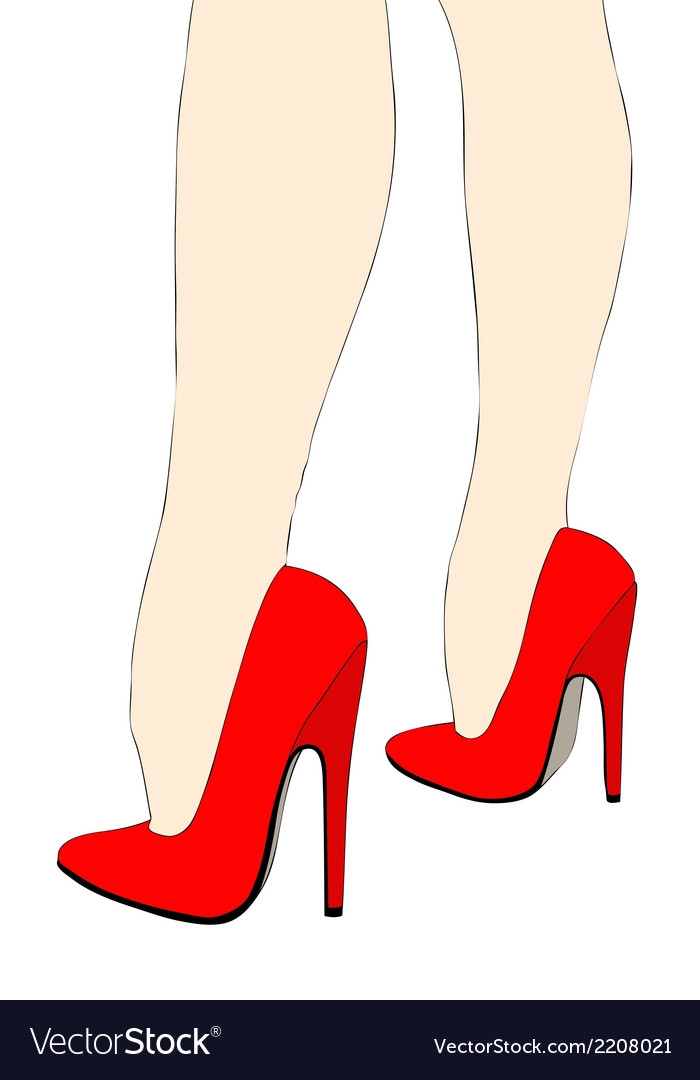 Beautiful legs in high heels vector | Price: 1 Credit (USD $1)