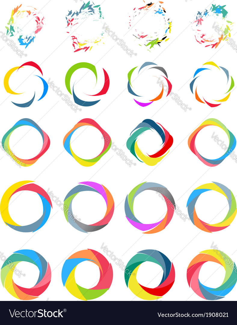 Color circle set vector | Price: 1 Credit (USD $1)