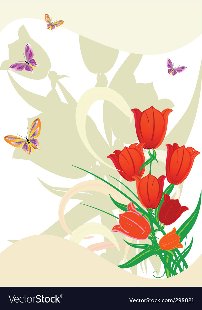 Flower red vector | Price: 1 Credit (USD $1)