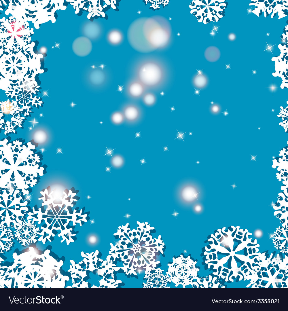 Snowflakes winter seamless border seamless texture vector | Price: 1 Credit (USD $1)