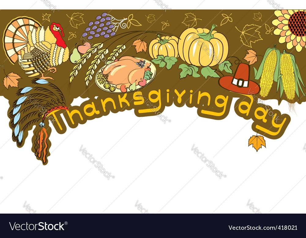 Thanksgiving border vector   Price: 1 Credit (USD $1)