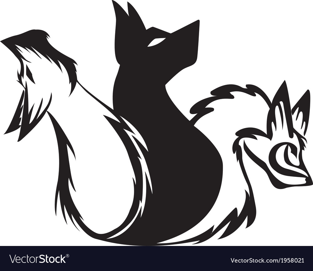 The three headed dog tribal vector | Price: 1 Credit (USD $1)