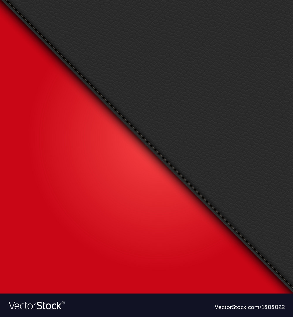 Black leather diagonal panel background on red vector | Price: 1 Credit (USD $1)
