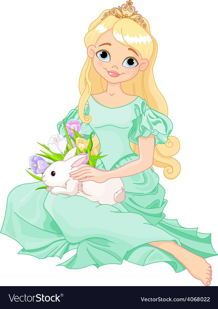 Easter princess vector | Price: 1 Credit (USD $1)