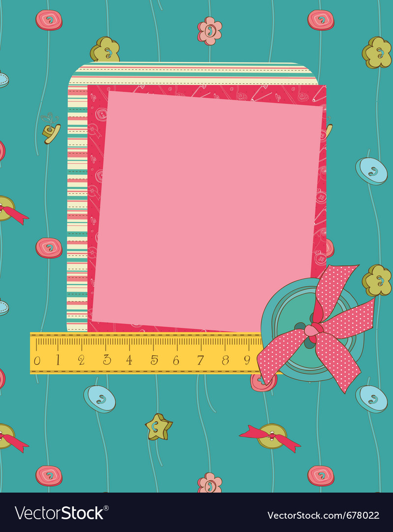 Greeting frame card vector | Price: 1 Credit (USD $1)