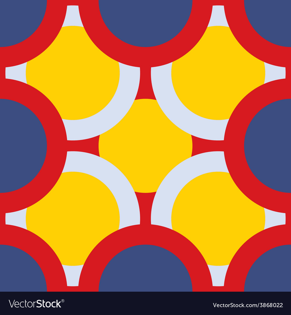 Seamless pattern of colored circles vector | Price: 1 Credit (USD $1)