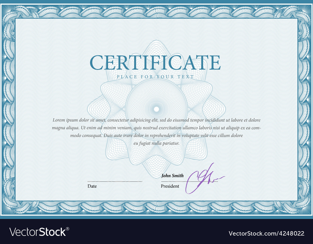 Template certificate and diplomas vector | Price: 1 Credit (USD $1)